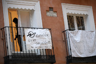 Edificio 'okupado', en Madrid, en una imagen de archivo.