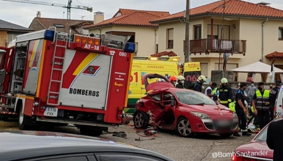 Muere una de las dos mujeres de 28 años heridas en un accidente de tráfico en Corbán, Santander