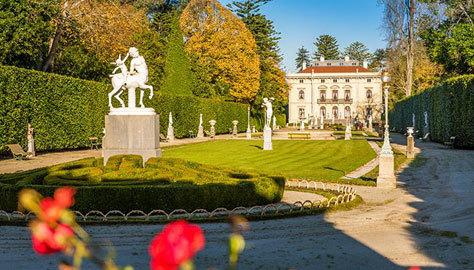 Palacio y jardín de la Quinta de Selgas.