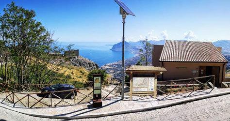 Parte del sendero a su paso por Sicilia.