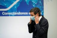 El presidente de Telefónica, José María Álvarez-Pallete, en la Moncloa.