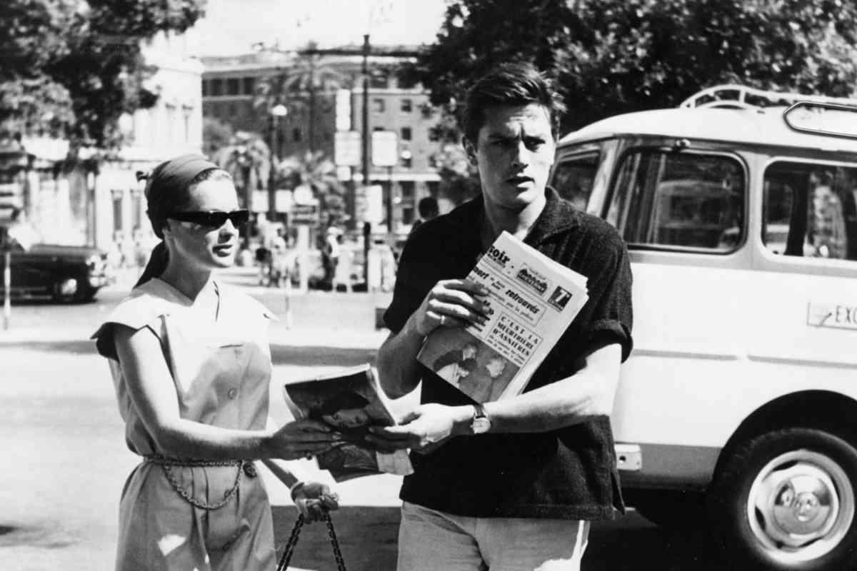 Con su gran amor, Alain Delon, quien la abandonó para fugarse con Nathalie Barthélem.
