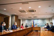 Imagen de la anterior reunión entre Gobierno y Ciudadanos celebrada el 12 de junio.