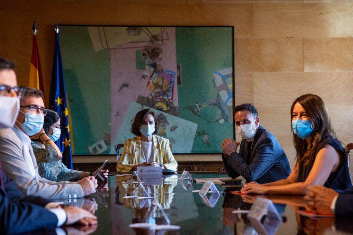 Irene Montero acusa a Cs de rechazar un encuentro con el Gobierno de coalición para reunirse sólo con ministros del PSOE