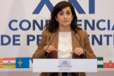 La socialista Concha Andreu, en la pasada Conferencia de Presidentes.
