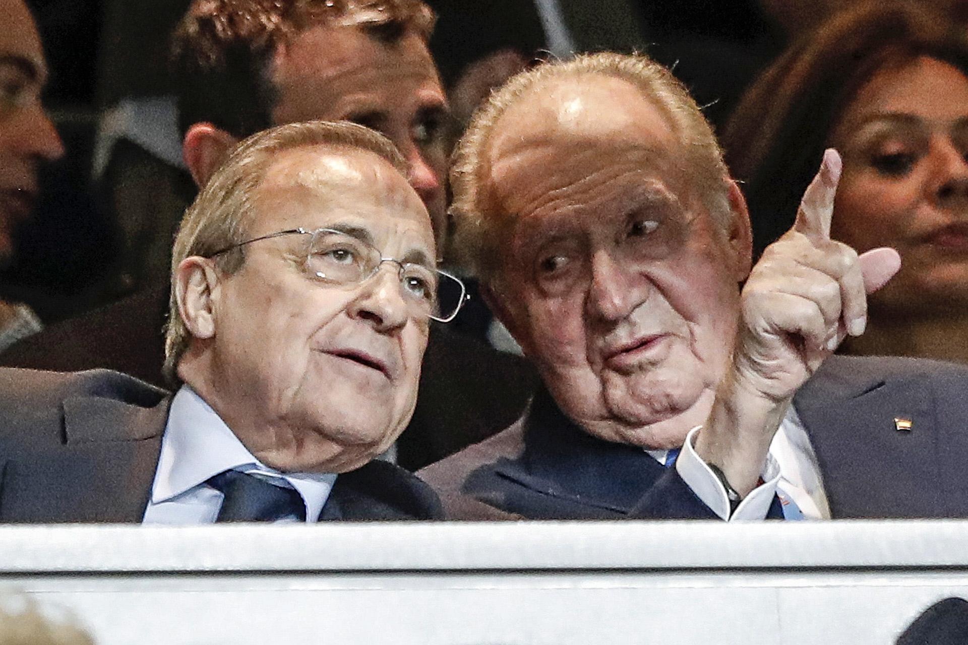 Florentino Pérez y el Rey Juan Carlos.