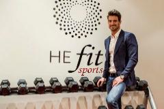 El ex jugador de fútbol Aitor Ocio en la reinauguración de su Clinica Henao He Fit Sports, Bilbao