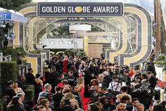 La entrada a los Globos de Oro de 2020 en Los Ángeles.