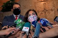 La vicepresidenta primera del Gobierno, Carmen Calvo, este miércoles, en Oviedo.