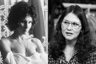 Linda Lovelace en 1972 (izda.) y en 1986, como Linda Boreman.