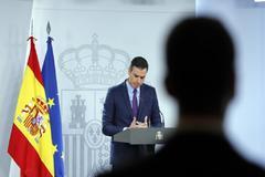 Pedro Sánchez, en su comparecencia del martes tras el Consejo de Ministros.