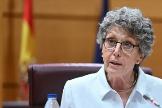 Rosa María Mateo, administradora provisional única de RTVE, este jueves en el Senado.