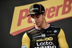 Groenewegen, en el podio del Tour de Polonia.