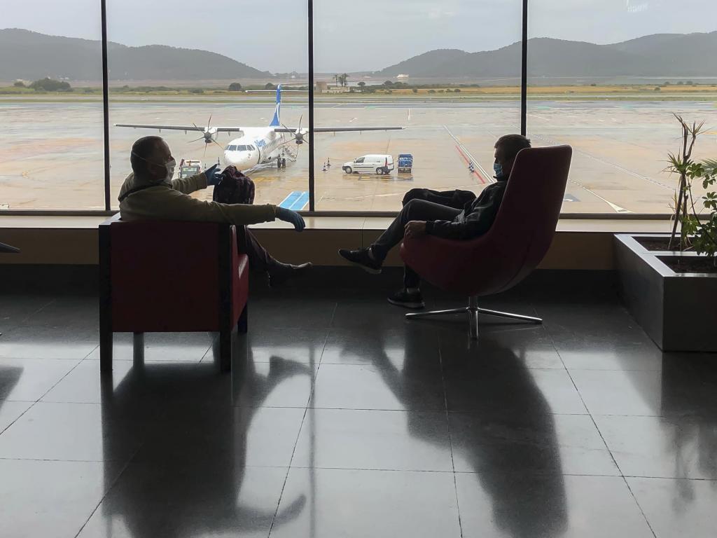 Pasajeros en el aeropuerto de Palma