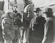 William Friedkin, Gene Hackman y Fernando Rey, en el rodaje de French Connection.