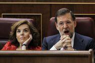 Mariano Rajoy y Soraya Sáenz de Santamaría en el Congreso, en una imagen de archivo.