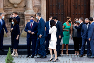 El Rey con los presidentes autonómicos, el 31 de julio, en San Millán de la Cogolla.