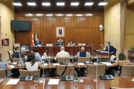 Reunión de la Comisión para la Recuperación del Parlamento andaluz.