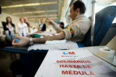 Donación de médula ósea en el Centro de Transfusión de Madrid.