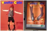A la derecha, la imagen eliminada de la campaña de la Vuelta al Cole de El Corte Inglés.