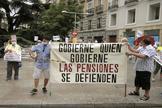 Manifestación de jubilados celebrada el pasado mes de junio en Madrid.