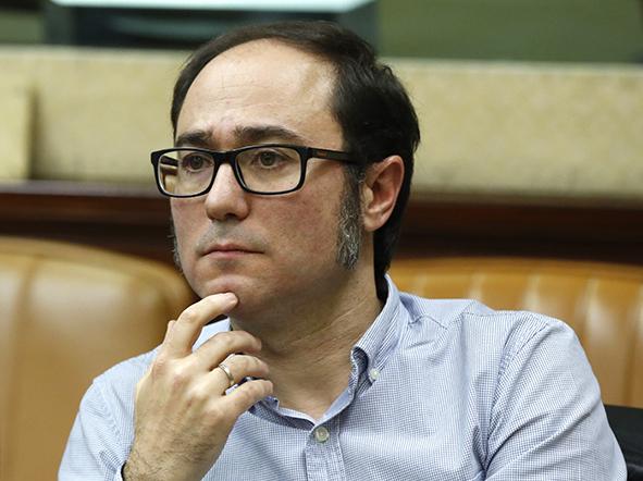 El tesorero de Podemos, Daniel de Frutos.