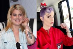 Kelly Osbourne, en 2011 (izqda.) y ahora.