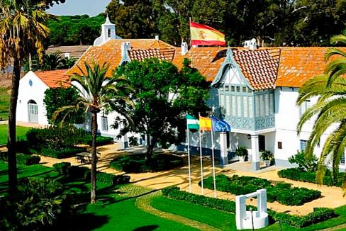 El palacio de Las Marismillas, en el coto de Doñana.