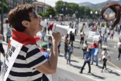 Manifestación de pensionistas vascos celebrada el pasado mes de mayo en Bilbao.