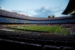 El Camp Nou, durante el último duelo del Barcelona frente al Nápoles.