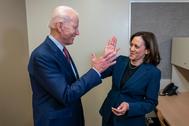 Joe Biden junto a Kamala Harris, en una imagen publicada por su equipo de campaña.