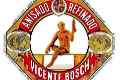 Etiqueta de Anís del Mono, elaborado en Barcelona.