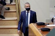 Iñigo Urkullu en la primera sesión de la Cámara vasca.