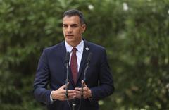 El presidente del Gobierno, Pedro Sánchez, ayer tras su reiunión con el Rey.