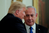 FILE PHOTO: U.S. President Trump and lt;HIT gt;Israel lt;/HIT gt;'s Prime Minister Netanyahu discuss Middle East peace proposal at White House in Washington