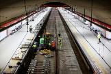 Reforma integral del túnel de Recoletos en 2019.