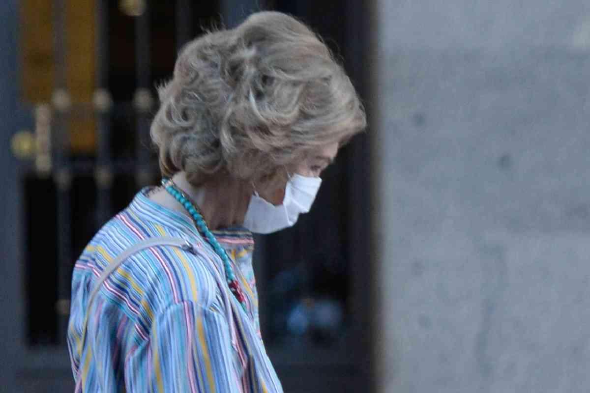 La única imagen de la Reina Sofía en Palma, desde que llegó el pasado 27 de julio.