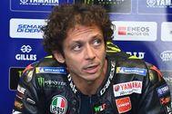 Valentino Rossi, en su garaje, en Spielberg.