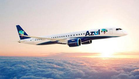 Uno de los aviones de Azul Linhas Aéreas Brasileiras.