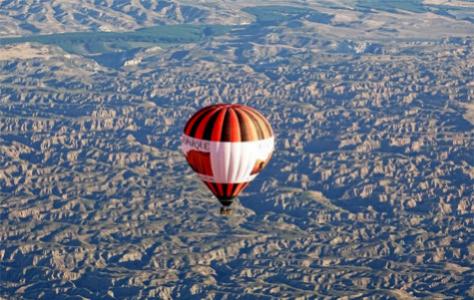 Un viaje en globo por la comarca de Guadix.