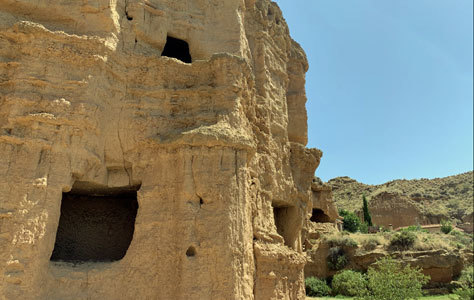 Cavidades esculpidas en las rocas en la zona.