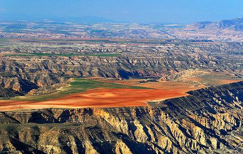 Una de las formaciones del Geoparque de Granada.