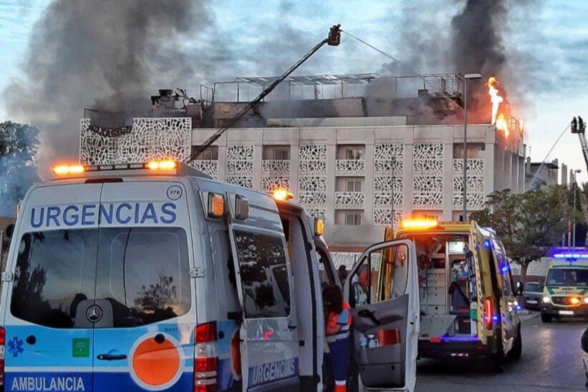 Fotografía del incendio en Marbella