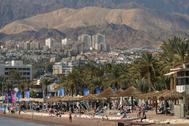 Vista de la ciudad de Eilat.