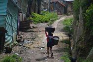 Asentamiento en Ciudad de Guatemala. FOTOS: lt;HIT gt;ASIER lt;/HIT gt; lt;HIT gt;VERA lt;/HIT gt;
