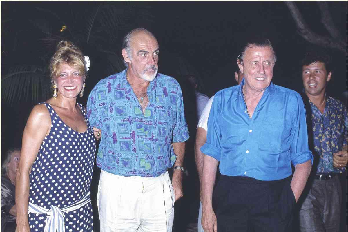 El actor, con los Thyssen en Marbella.