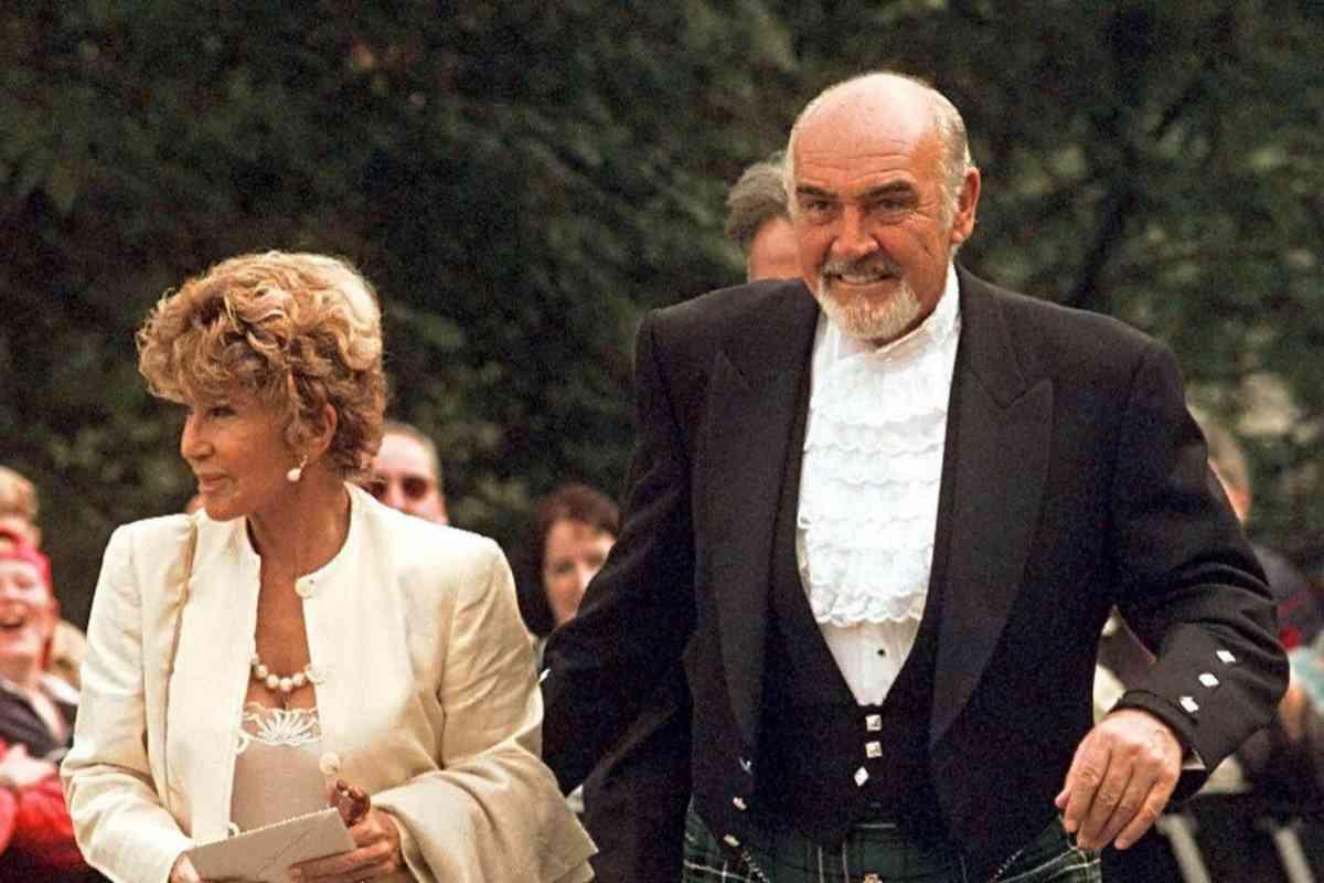 Con su esposa, Micheline.