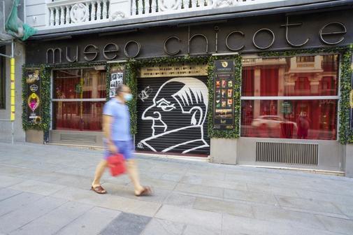 El bar Chicote, cerrado.