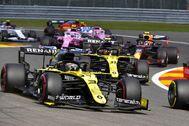 Ricciardo, durante el GP de Bélgica.