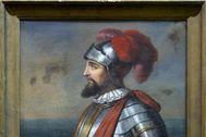 Retrato anónimo de Vasco Núñez de Balboa (siglo XIX) en la colección del Museo Naval.